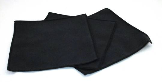 MINI DELUXE BLACK MICROSUEDE POLISHING CLOTH 15cm x 15cm