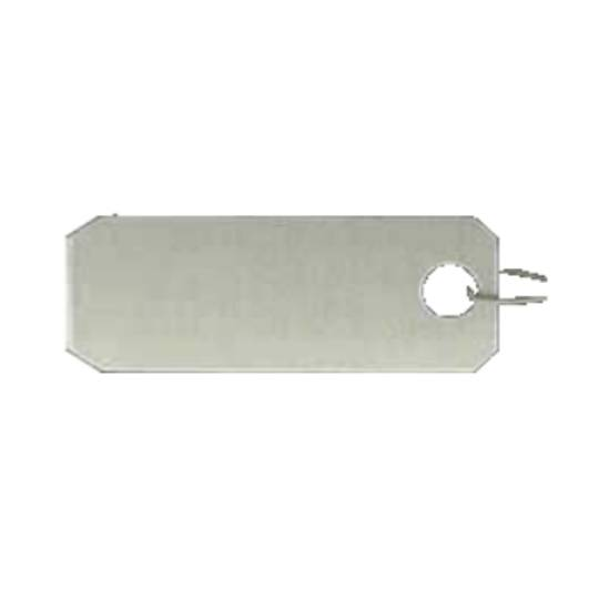 ARCH CROWN TAGS 918 CLASSIC SILVER - 100 PACK