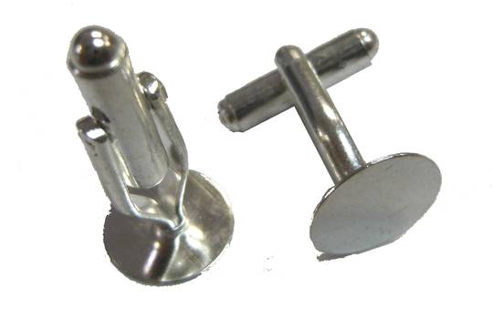 CUFFLINKS SILVER PLATED (3 PAIRS)