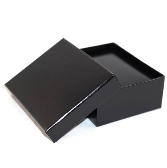 SC17 PREMIUM - PENDANT/DROP EARRING BOX LEATHERETTE BLACK TWO TONES INSERTS & OUTER BOX