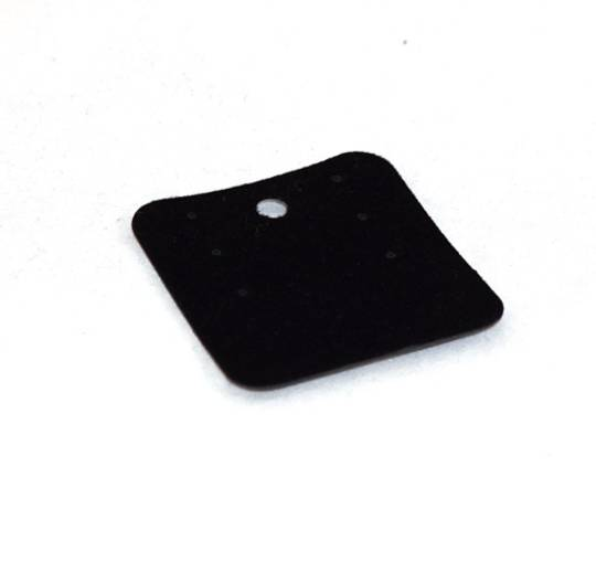 EARRING/PENDANT CARD BLACK FLOCK SMALL (50 PIECES)
