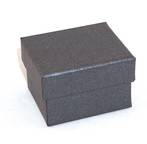 CBR - RING BOX CARDBOARD CHARCOAL WHITE PAD (60 PCS)