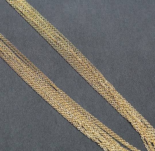 "GOLD PLATED CHAIN 18"" (45CM) - 100 PACK"