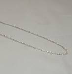 DEBBIE FINE CURB CHAIN SILVER PLATED 2.3X4MM (1 MTR)