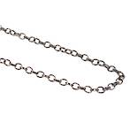 HAYLEY OVAL BELCHER CHAIN BLACK PLATED 7.5X6.0MM (1 MTR)