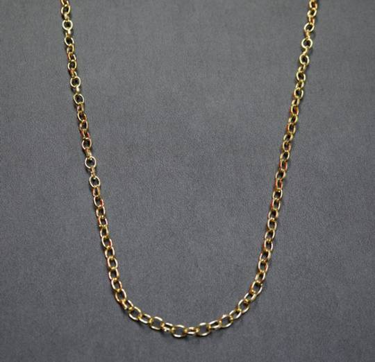 HAYLEY CHAIN OVAL BELCHER GOLD PLATED 7.5X6.0MM (1 MTR)