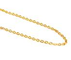 JULIE HEAVY CABLE CHAIN GOLD PLATED 3.7X3.8MM (1 MTR)
