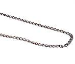 LISA CURB CHAIN BLACK PLATED 4.2X6.6MM (1 MTR)