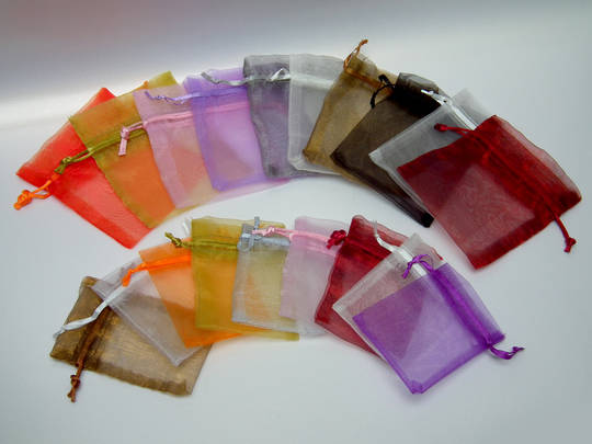 ORGANZA BAG 7 X 10 CM CREAM (1 DOZ)