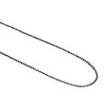 PAM FINE CURB CHAIN BLACK PLATED 1.9X2.7MM  (1 MTR)