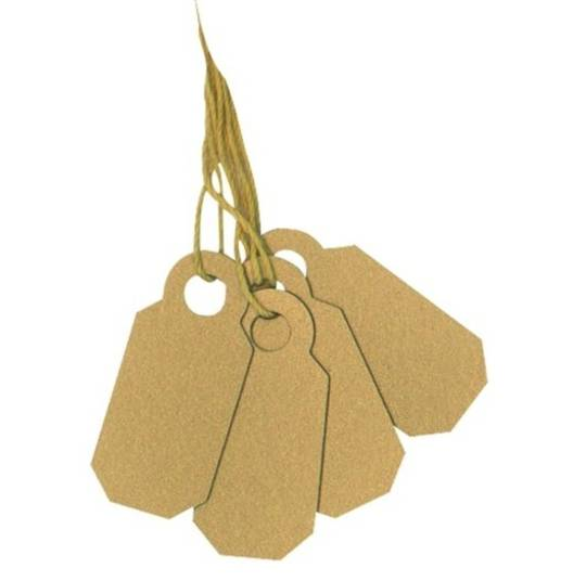 ARCH CROWN TAGS 908 CLASSIC GOLD - 100 PACK