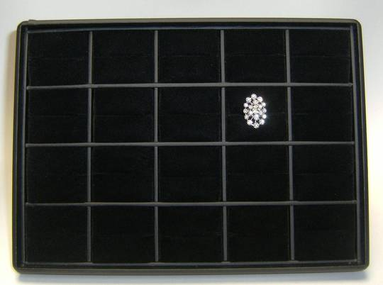 RING & PENDANT DISPLAY TRAY BLACK VINYL