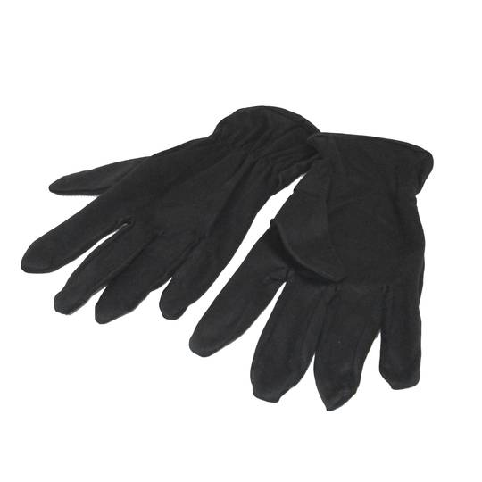MICROFIBRE GLOVES - BLACK LARGE