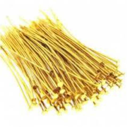 HEAD PIN GOLD PLATED 70MM BULK (500 PACK)