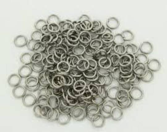 JUMP RING STAINLESS STEEL 5MM  (100 PACK)