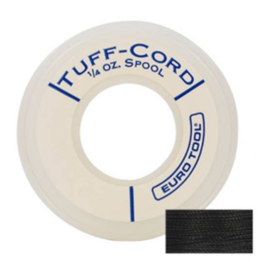 BLACK JEWELLERY TUFF-CORD (60 MTR ROLL)