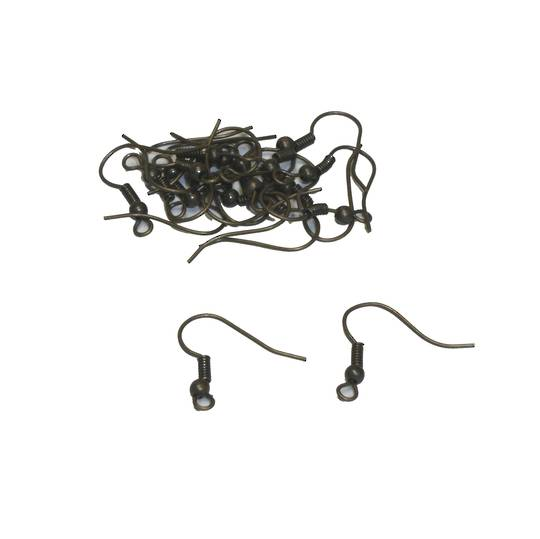 ZULU EAR WIRES ANTIQUE BRASS (20 PAIRS)