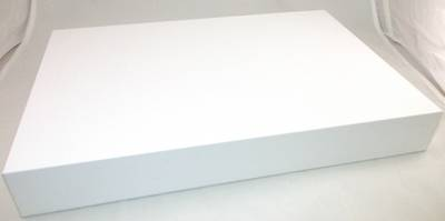 DISPLAY PLATFORM XL RECTANGULAR WHITE VINYL