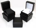 EARRING BOX MATT BLACK WOOD BLACK FLAP