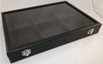 SDR - RING BOX LEATHERETTE BLACK WHITE BARREL
