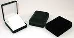 SSP1 - EARRING / MEDIUM PENDANT BOX BLACK FLOCK WHITE FLAP