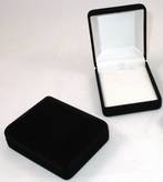 SSP1 - MEDIUM PENDANT BOX BLACK FLOCK WHITE PAD BULK DEAL (24 PCS)