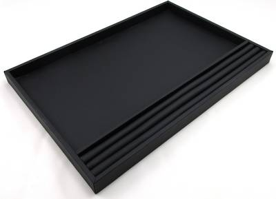 LARGE PRESENTATION/DISPLAY TRAY W/ROLL BLACK VINYL