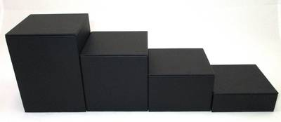 DISPLAY SET 4 PIECE SQUARE STEPS BLACK VINYL