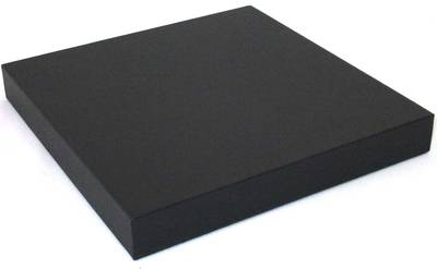 DISPLAY PLATFORM SMALL SQUARE BLACK VINYL