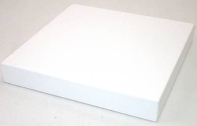 DISPLAY PLATFORM SMALL SQUARE WHITE VINYL