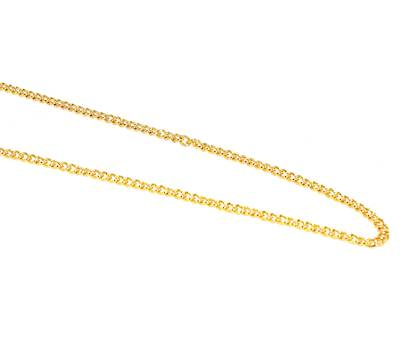 ANNA CURB CHAIN GOLD PLATED 3.4X4.4MM (1 MTR)