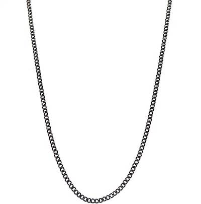ANNA CHAIN FINE CURB BLACK PLATED 3.4X4.4MM (1 MTR)