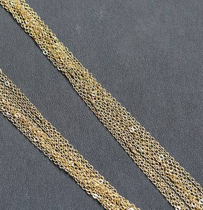 """GOLD PLATED CHAIN 19"""" (47.50CM) - 100 PACK"""