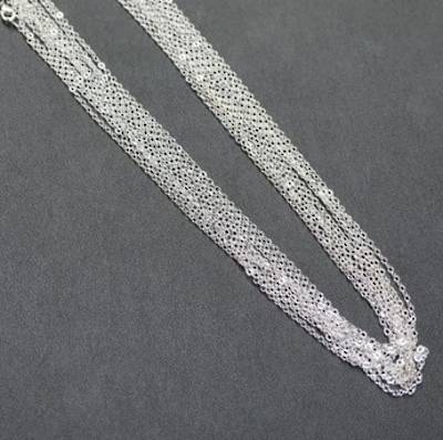 "SILVER PLATED CHAIN 19"" (47.50CM) - 50 PACK"