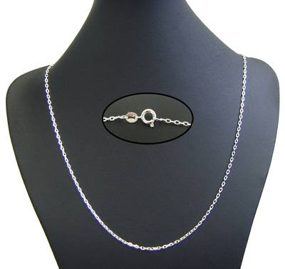 "SILVER PLATED CHAIN 18"" (45CM) - 5 PACK"