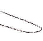 ANNA CURB CHAIN BLACK PLATED 3.4X4.4MM (1 MTR)