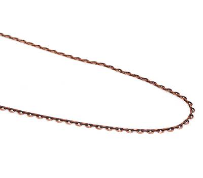 D LINK FINE CHAIN ANTIQUE COPPER 2.5X3.5MM (1 MTR)
