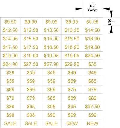 ZETAGS D1-LOW$-PRICE PAGES GOLD 1300PCS