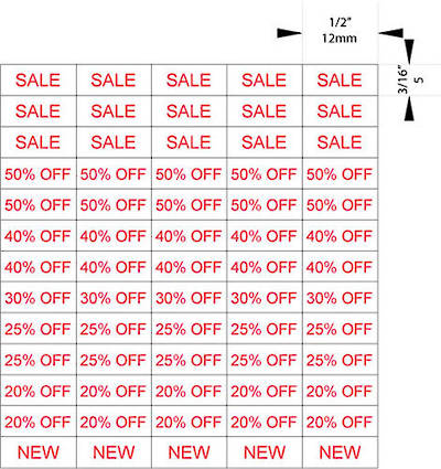 ZETAGS D1-SALE-PRICE PAGES RED 1300PCS