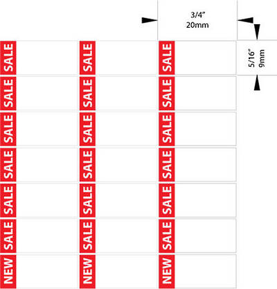 ZETAGS D3-SALE-PAD LABELS RED 420PCS