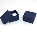 CBR - RING BOX CARDBOARD NAVY REVERSIBLE PAD BULK DEAL (60 PCS)