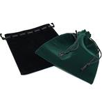 "VELVET POUCH XL ""GREENSTONE"" 140 x 150 MM"