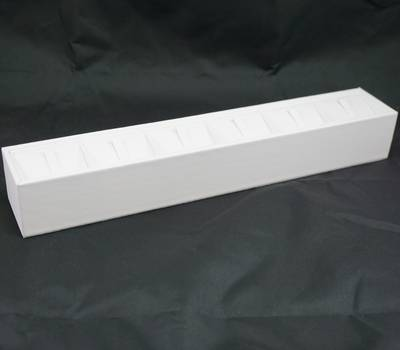 RING DISPLAY BLOCK 6 CLIPS WHITE VINYL (SIZE 3)