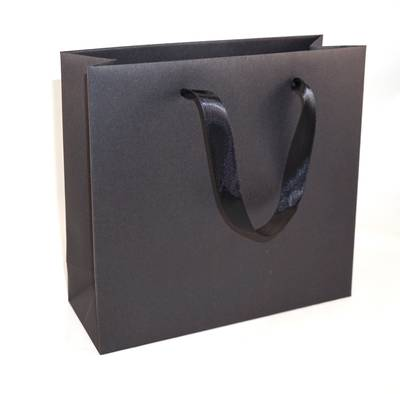 DELUXE BLACK MEDIUM CARRY BAG BLACK RIBBON HANDLES