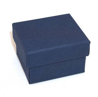 CBR - RING BOX CARDBOARD NAVY WHITE PAD BULK DEAL (60 PCS)