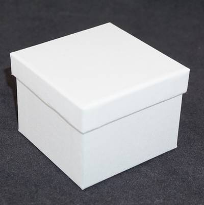 CB8 - WATCH/BANGLE BOX CARDBOARD WHITE BLACK CUSHION