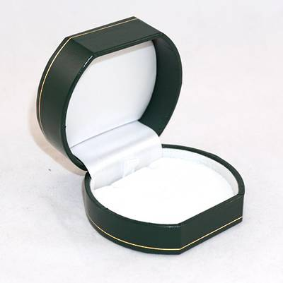 OVPFG - PENDANT BOX LEATHERETTE GREEN WHITE PAD