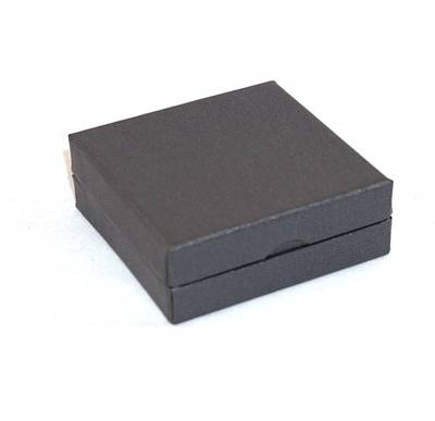 CBBE - SMALL PENDANT/EARRING BOX CARDBOARD CHARCOAL WHITE RAMP (36 PCS)