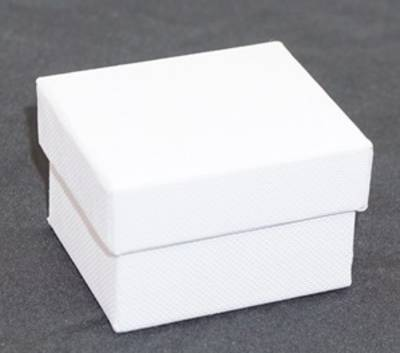 CBR - RING BOX CARDBOARD WHITE WHITE PAD (60 PCS)