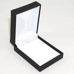 IMP - PENDANT BOX IMITATION LEATHER BLACK WHITE VELVET PAD BULK DEAL (24 PCS)